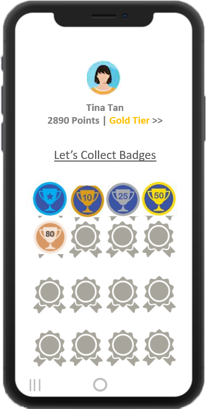 Badge customer loyalty programs to engage and attract customers