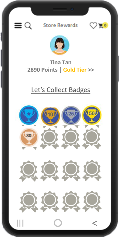 Badge levels loyalty program