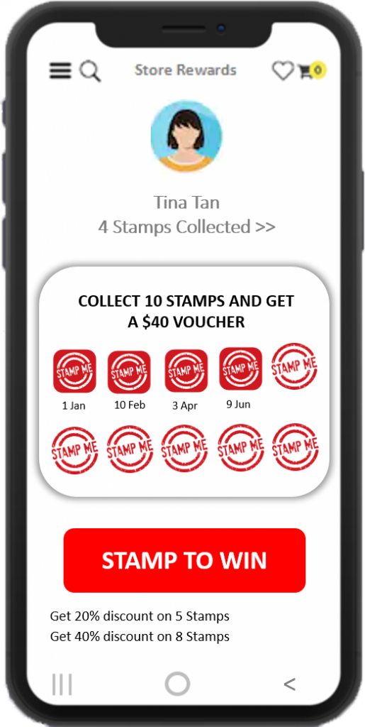 Stamp to win (Gamified Loyalty Program)