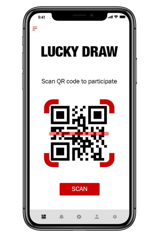 Participate in lucky draw iphone picture